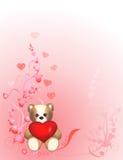 valentin för björnförälskelse s Royaltyfri Fotografi