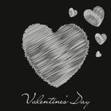 valentin för dag s Röd hjärta också vektor för coreldrawillustration Arkivfoto