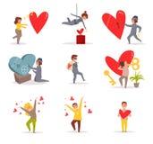 valentin för dag s vektor cartoon royaltyfri illustrationer