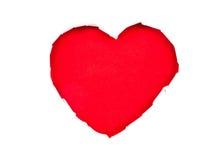 valentin för daghjärtapapper s Arkivfoto