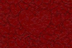 valentin för förälskelse s för daghjärtaillustration Arkivfoton