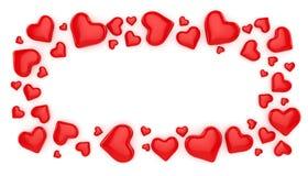 valentin för förälskelse s för daghjärtaillustration Fotografering för Bildbyråer