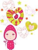 valentin för flicka s för fågeldag felik vektor illustrationer