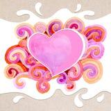 valentin för form för korthjärtaförälskelse Royaltyfria Foton