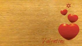 valentin för form för korthjärtaförälskelse Arkivfoton