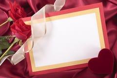 valentin för form för korthjärtaförälskelse Arkivfoto