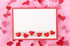 valentin för form för korthjärtaförälskelse Arkivbilder