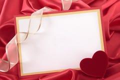 valentin för form för korthjärtaförälskelse Royaltyfri Fotografi