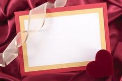 valentin för form för korthjärtaförälskelse Royaltyfria Bilder
