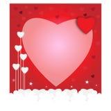 valentin för form för korthjärtaförälskelse konst tecknad ure för natur för handillustration n Royaltyfri Foto