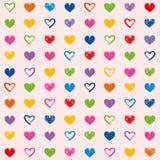 Valentin för hjärtor för förälskelsetemagrunge illustration för sömlös för modell för dag dekorativ bakgrund för tapet royaltyfri bild