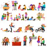 valentin för illustration s för dagdraw lycklig Royaltyfria Bilder