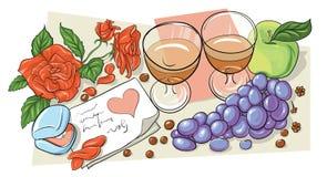 valentin för illustration s för dagdraw lycklig stock illustrationer