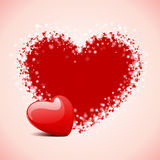 valentin för kortdaghjärta s Arkivbild