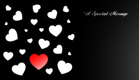 valentin för korthjärtaförälskelse s Royaltyfria Bilder