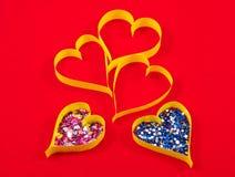 valentin för papper s för daghjärtaferie Royaltyfri Foto