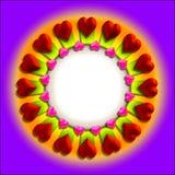valentin för ramhjärta s vektor illustrationer