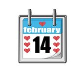 valentin för st för symbol s för kalenderdag Arkivfoton