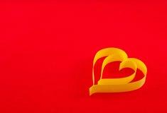 valentin för symbol för daghjärtapapper s Arkivfoton