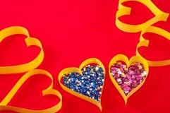valentin för symbol för daghjärtapapper s Royaltyfria Foton