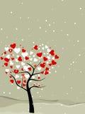 valentin för tree för fågelhjärtaförälskelse royaltyfri illustrationer