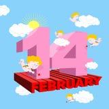 Valentin för valentindag Vykort affisch för alla vänner 3 Royaltyfria Bilder
