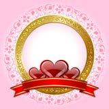 valentin för dagplatta s Royaltyfri Bild