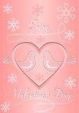 Valentin karta Zdjęcia Royalty Free