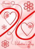 Valentin karta Zdjęcie Stock