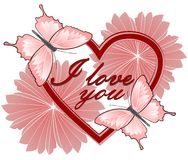 Valentin karta Obraz Stock