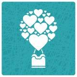 Valentin kort för daghälsning vektor illustrationer