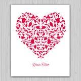 Valentin kort för daghälsning med röda tulpan Royaltyfria Foton