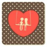 Valentin kort för dagtappning stock illustrationer