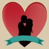 Valentin kyss Arkivbild