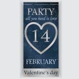 Valentin reklamblad för dagparti Royaltyfri Fotografi