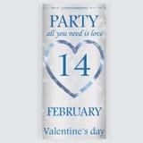 Valentin reklamblad för dagparti Royaltyfria Foton
