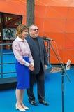 Valentin Reznichenko e Marina Poroshenko Fotografia Stock Libera da Diritti