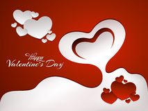 Valentin romantiska grafiska beståndsdelar för dag Arkivfoton