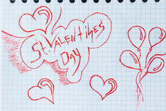 Valentin`s Day background Stock Photography