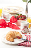 Valentin's day breakfast Royalty Free Stock Images