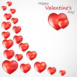 Valentin`s Day Card. With Hearts Royalty Free Stock Photography