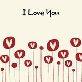 Valentin`s day card. Vector Illustration of  hearts card Royalty Free Stock Images
