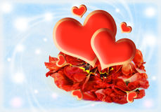 Valentin`s Day Card Royalty Free Stock Photos
