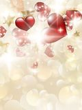 Valentin`s Day Card With Hearts. EPS 10. Vector file included Stock Photos