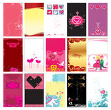 Valentin`s day cards templates 13. stock illustration