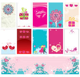 Valentin`s day cards templates 14 stock illustration