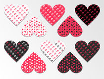 Valentin`s Day seamless patterns. Stock Photography