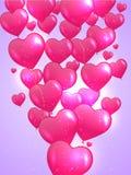 Valentin ` s dnia karta z sercami. Obrazy Royalty Free
