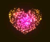 Valentin ` s dnia karta z sercem Obraz Royalty Free