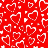 Valentin's seamless ornament with hearts Royalty Free Stock Photo